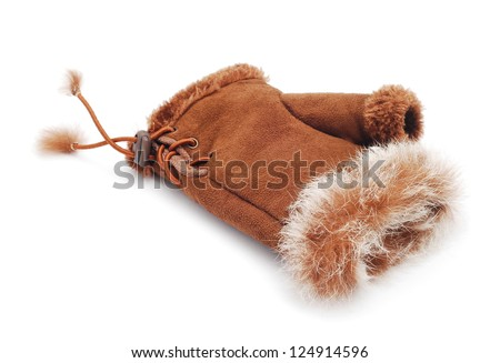 winter glove on white background