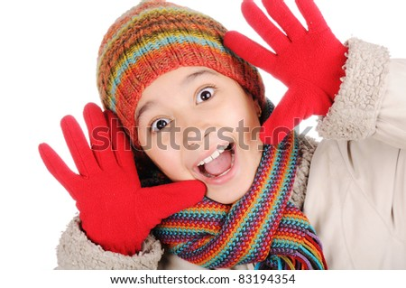 Winter happiness - stock photo
