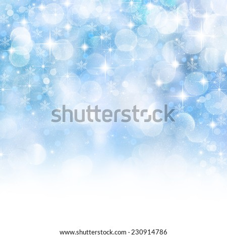 Winter Holiday snow background. - stock photo