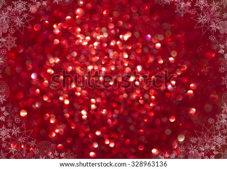 Winter Holiday Snow Background. Christmas Abstract Defocused Backdrop with Snowflakes. Bokeh - stock photo