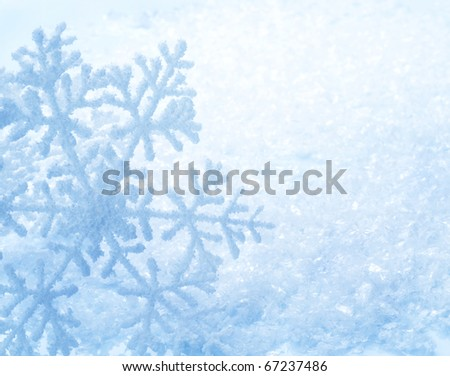 Winter Holiday Snow Background.Snowflakes - stock photo