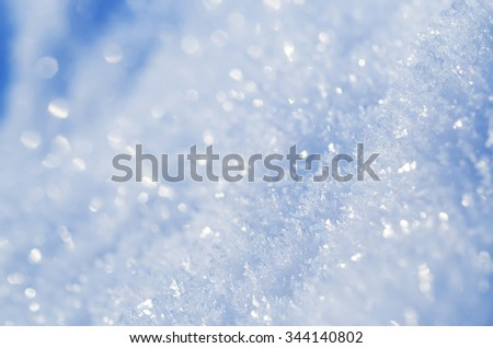 Winter iced blue pattern with snowflakes, vintage retro holiday seasonal background - stock photo