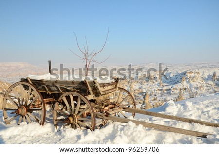winter in Anatolia - stock photo