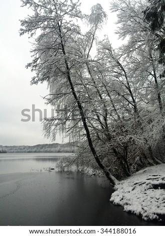 Winter in Germany - stock photo