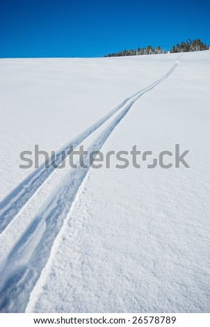 Winter in the french Alps - stock photo