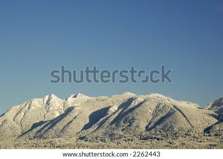 winter landscape - stock photo