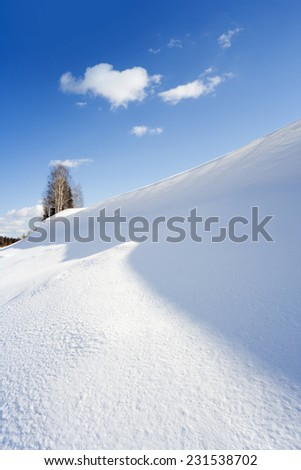 Winter landscape. A bright sunny day and the crackling scintillating snow.