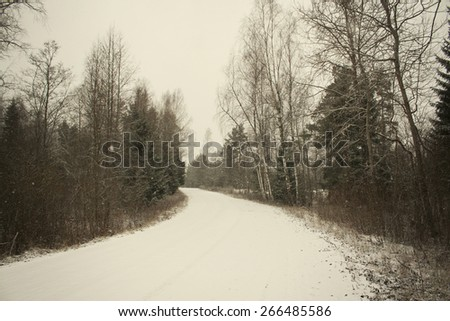 Winter landscape in Latvia