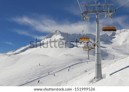 Winter landscape in the Zugspitze, Bavary, Germany. Highest Point in Germany (2962 m) - stock photo