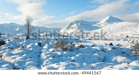 Winter landscape of Scotland