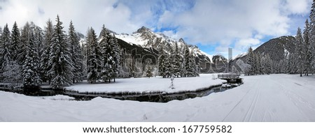 winter landscape, Switzerland, European Alps
