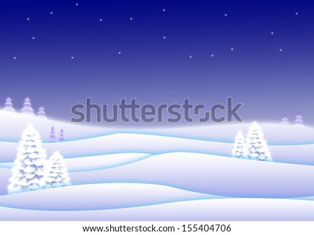 Winter landscape, winter wonderland - stock photo