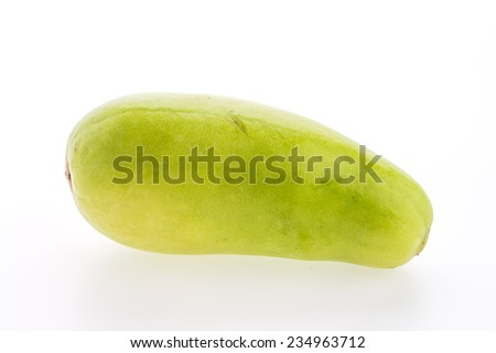 winter melon isolated on white background - stock photo