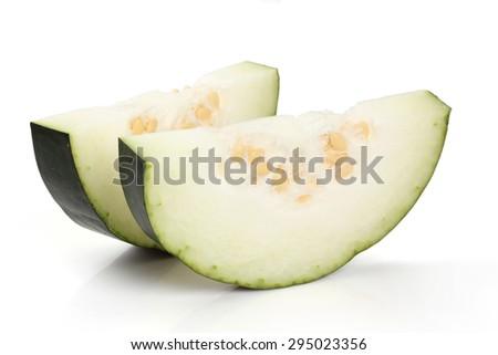 Winter melon on white background - stock photo