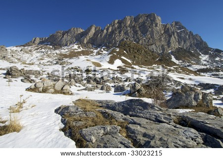 winter mountain in Pyrenees