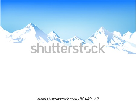 Winter mountains - stock photo