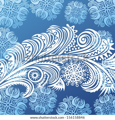 Winter pattern background happy new year merry christmas card illustration