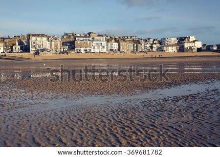 Winter's day in St Ives - stock photo