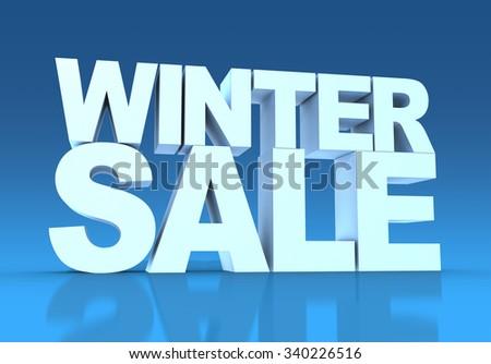Winter Sale - stock photo