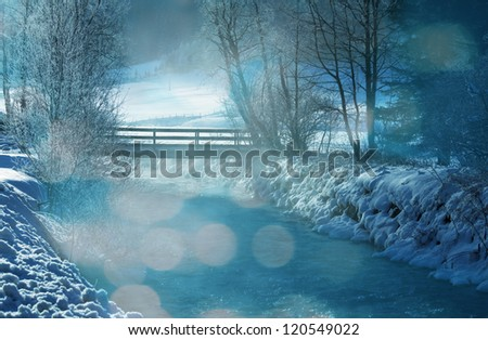 Winter scene - stock photo