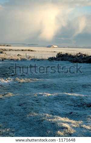 Winter scene in the Scottish Grampian region - stock photo