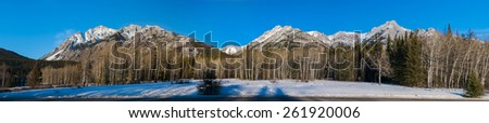 Winter Scenery, Banff National Park Alberta Canada - stock photo
