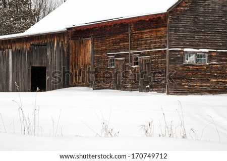 Galena Barn Old Weathered Barn On Stock Photo 141285292