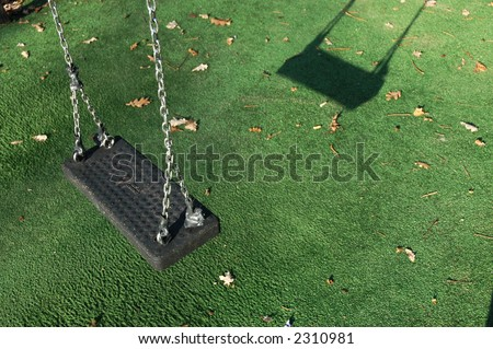 Winter Swing - stock photo