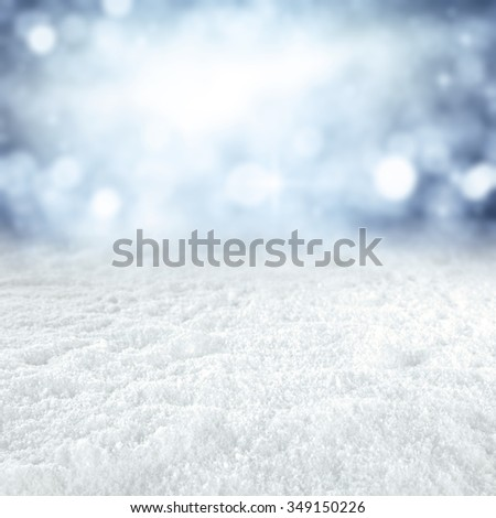 winter time and snow space  - stock photo