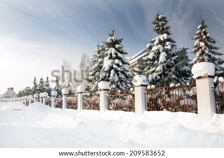 winter time background - stock photo