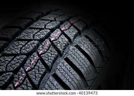 winter tire - stock photo