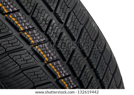 Winter tire detail - stock photo