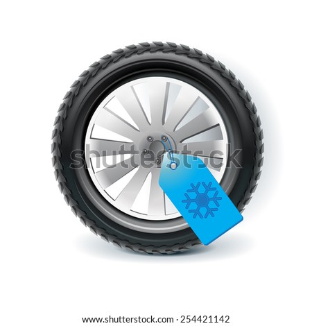Winter tires, clip art - stock photo