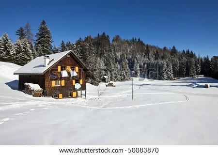 Winter vacation - stock photo