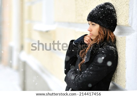 WInter woman portrait outdoor