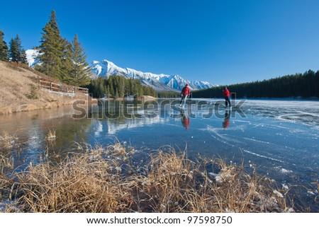 Winter Wonderland in Canadian Rocky Mountain Alberta, Canada - stock photo