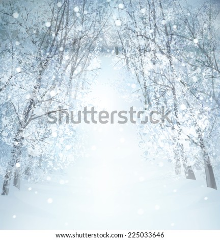 Winter wonderland landscape. - stock photo