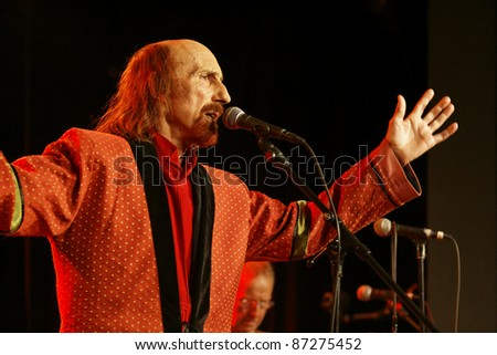 WINTERBACH, GERMANY - OCTOBER 22: British rock singer Arthur Brown performs in concert at the Lehenbachhalle on October 22, 2011 in Winterbach, Germany