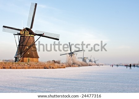 Winterscenic in the Netherlands - stock photo