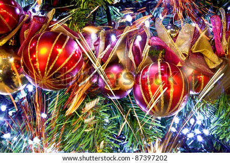 Wintry Decorations. Christmas ornaments. New year.