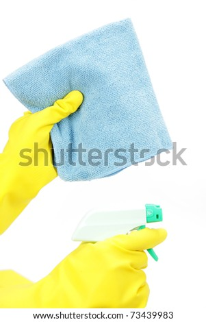 wipe cleaning - stock photo