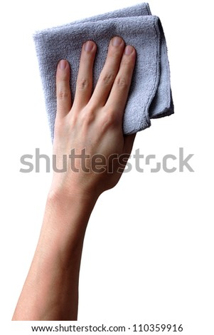 wipe with a cloth - stock photo