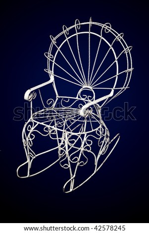 Wire Chair - stock photo