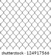 Wire fence 3d illustration - stock vector