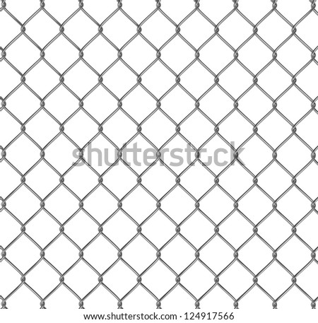 Wire fence 3d illustration - stock photo