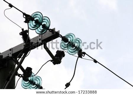 wire isolator - stock photo