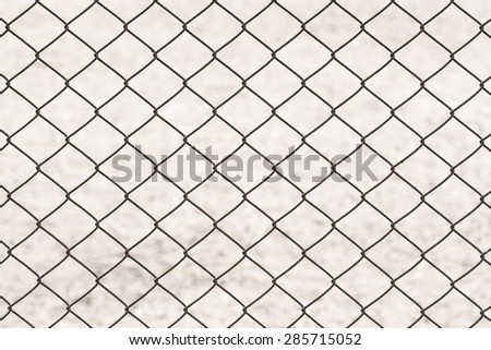 Wire mesh of old rust metal