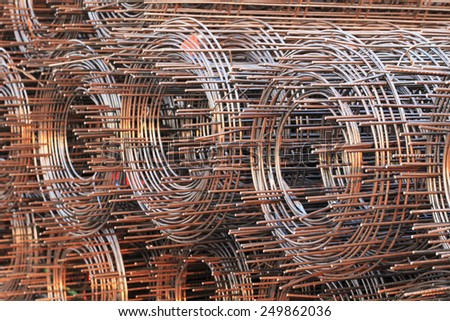 wire mesh steel - stock photo
