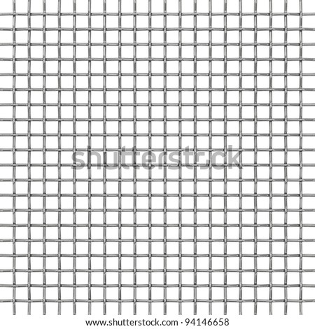 Wire Metal Net On White Background Stock Illustration 94146658 ...