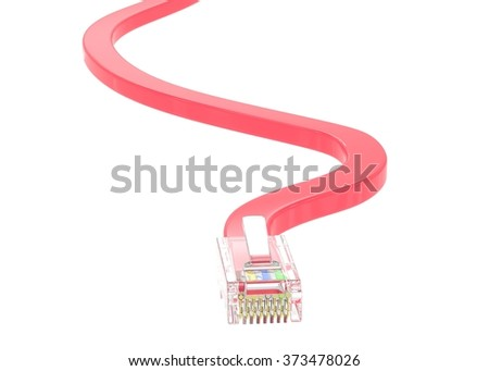 wire rj-45 on a white background, isolated - stock photo